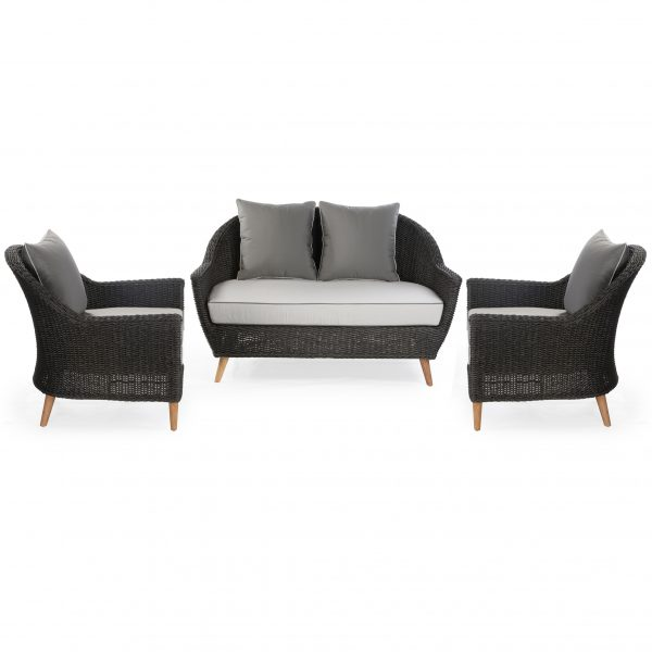 Domini sofa set: 2 seater sofa + 2 armchairs