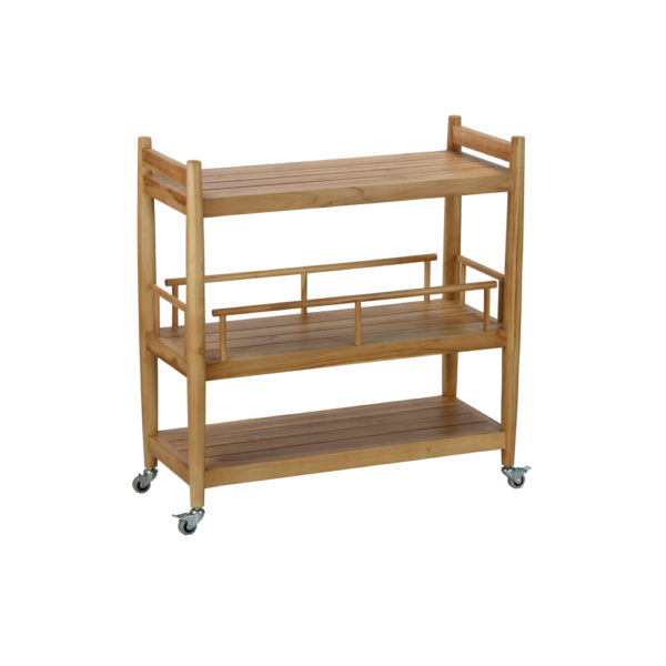 Emma trolley: teak wood natural