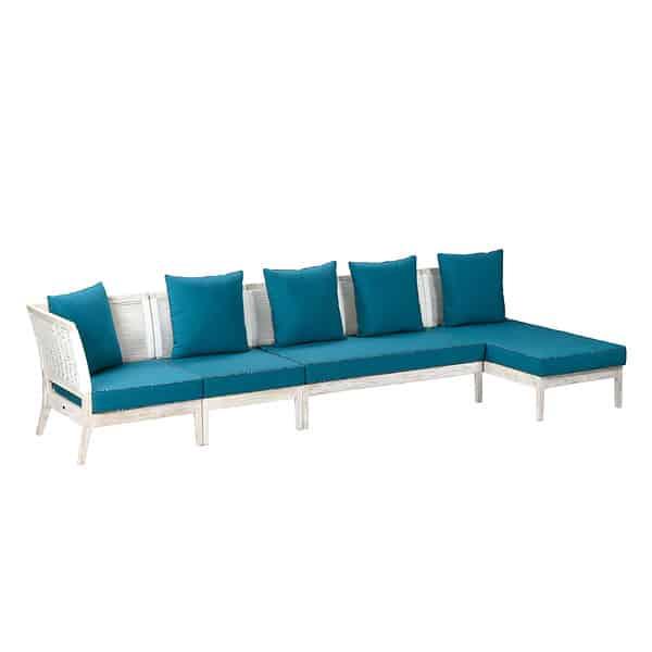 Toni L sofa: white
