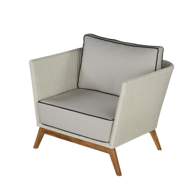 Tribeca Armchair: Polyrod weave on wooden  frame