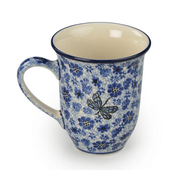 Stoneware: Mug, Blue & White