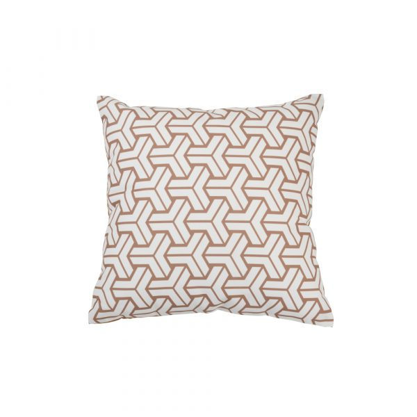 Geo1 cushion cover: cotton, square, 18″ x 18″
