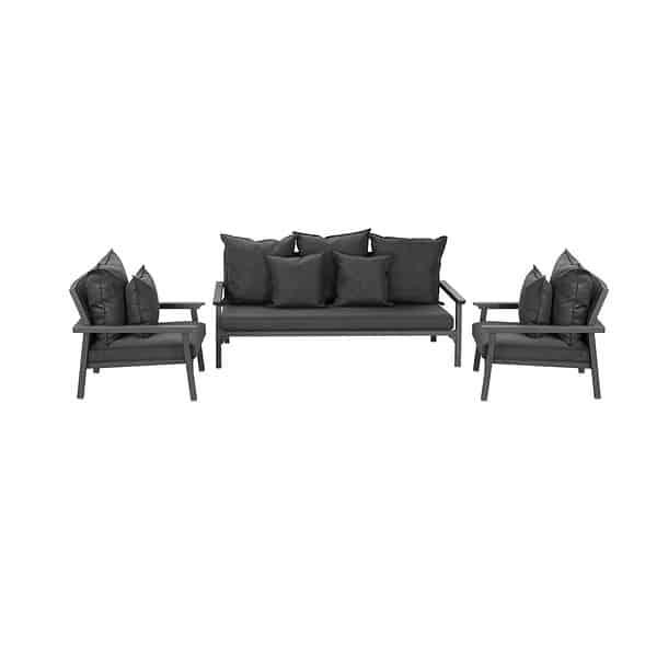 Classique 3 seater sofa set-black