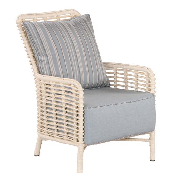 Gardo armchair: polyrod, beach white