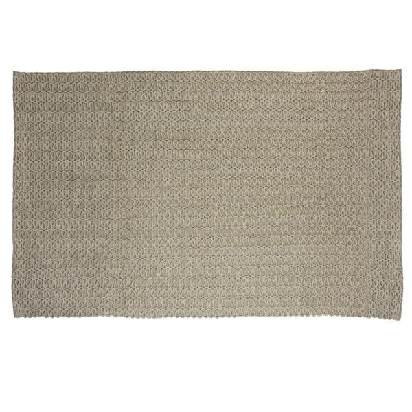 Rug: Woollen, tufted, silver