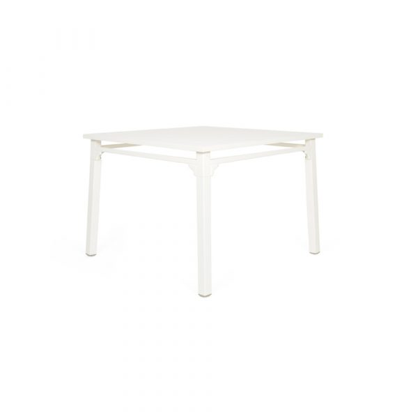 Classique dining table:  powder coated, white