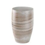Vase: ceramic, bell shaped, brown & white