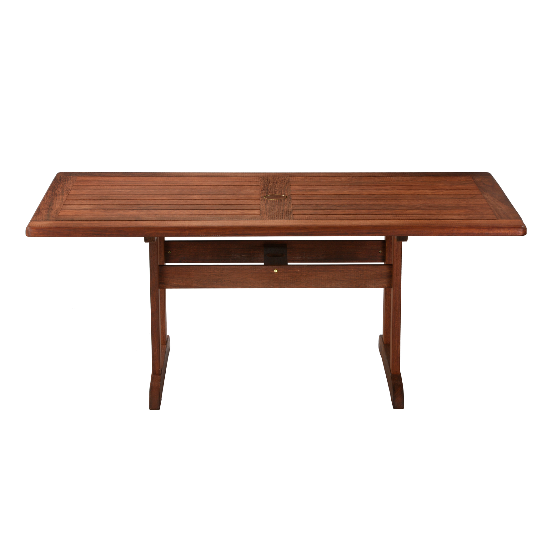 Kelmscott Dining Table Merbau Wood Abaca