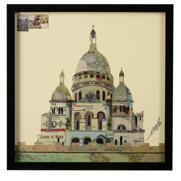 Wall art: Square, framed, Paper, St. Paul's
